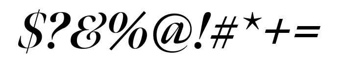 Meno Banner Extra Condensed Bold Italic Font OTHER CHARS