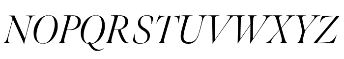 Meno Banner Extra Condensed Light Italic Font UPPERCASE