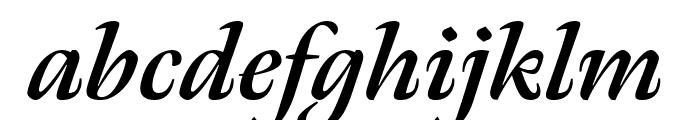 Meno Display Bold Italic Font LOWERCASE