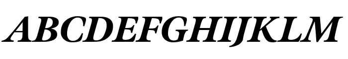 Meno Display Condensed Black Italic Font UPPERCASE
