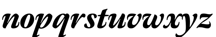 Meno Display Condensed Black Italic Font LOWERCASE