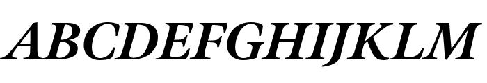 Meno Display Condensed Extra Bold Italic Font UPPERCASE