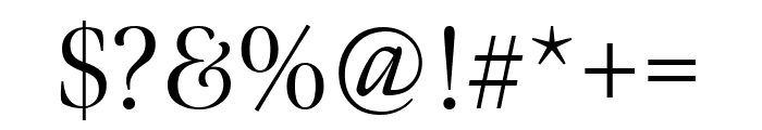 Meno Display Condensed Light Font OTHER CHARS
