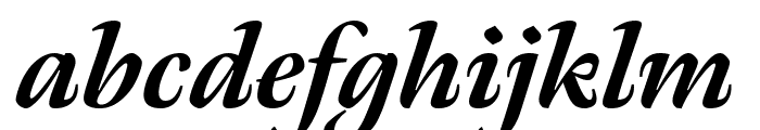 Meno Display Extra Bold Italic Font LOWERCASE