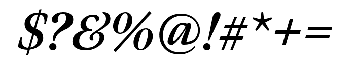 Meno Display Extra Condensed Bold Italic Font OTHER CHARS