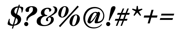 Meno Display Extra Condensed Extra Bold Italic Font OTHER CHARS