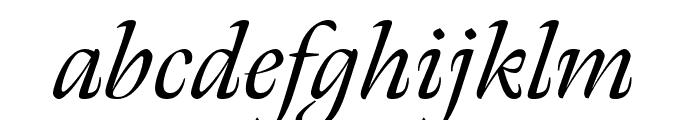 Meno Display Extra Condensed Italic Font LOWERCASE