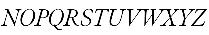Meno Display Extra Condensed Light Italic Font UPPERCASE