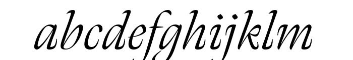 Meno Display Extra Condensed Light Italic Font LOWERCASE