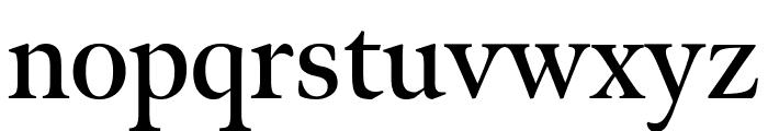 Meno Display Extra Condensed Semi Bold Font LOWERCASE