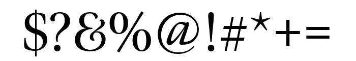 Meno Display Regular Font OTHER CHARS