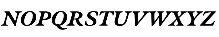 Meno Text Bold Italic Font UPPERCASE