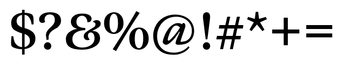 Meno Text Regular Font OTHER CHARS