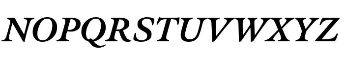 Meno Text Semi Bold Italic Font UPPERCASE
