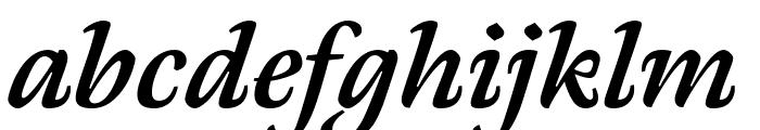 Meno Text Semi Bold Italic Font LOWERCASE