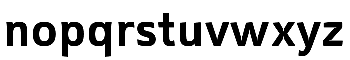 Mentone Bold Font LOWERCASE