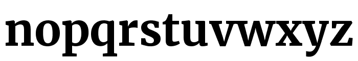 Merriweather Bold Font LOWERCASE