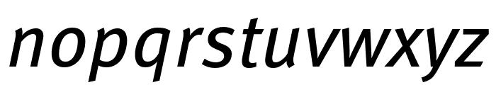 Meta Pro Condensed Book Italic Font LOWERCASE