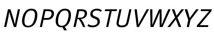 Meta Pro Condensed Normal Italic Font UPPERCASE