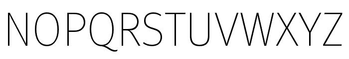 Meta Pro Thin Font UPPERCASE