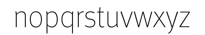 Meta Pro Thin Font LOWERCASE