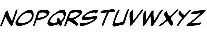 Might Makes Right BB Italic Font UPPERCASE