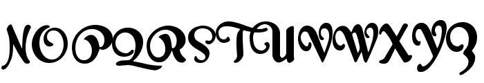 Milk Script Alternate Regular Font UPPERCASE