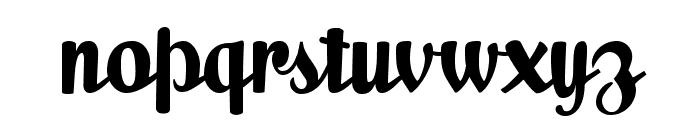 Milk Script Alternate Regular Font LOWERCASE