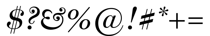 Miller Display Italic Font OTHER CHARS