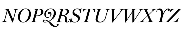 Miller Display Italic Font UPPERCASE