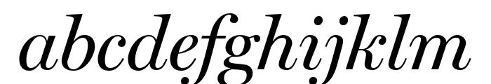 Miller Display Italic Font LOWERCASE