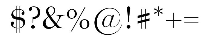Miller Display Light Font OTHER CHARS