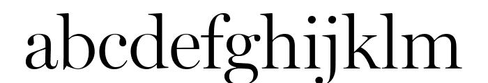 Miller Display Light Font LOWERCASE