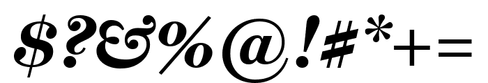 Miller Text Bold Italic Font OTHER CHARS