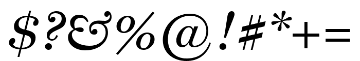 Miller Text Italic Font OTHER CHARS