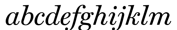 Miller Text Italic Font LOWERCASE