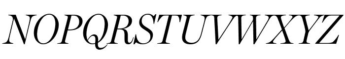 MillerHeadline Light Italic Font UPPERCASE