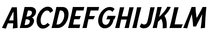 Mingler Medium Italic Font UPPERCASE