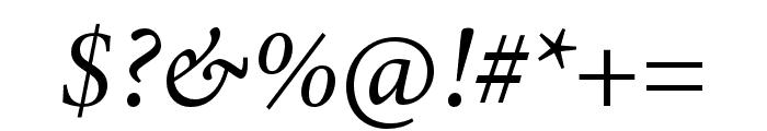 Minion 3 Italic Font OTHER CHARS