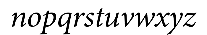 Minion 3 Italic Font LOWERCASE