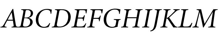 Minion 3 Subhead Italic Font UPPERCASE