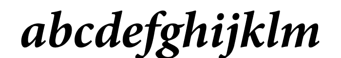 Minion Pro Bold Cond Italic Caption Font LOWERCASE