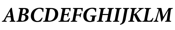 Minion Pro Bold Italic Caption Font UPPERCASE