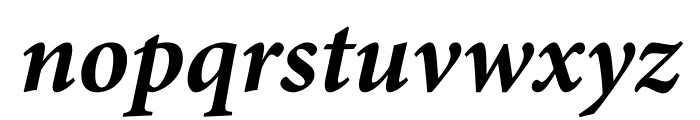 Minion Pro Bold Italic Caption Font LOWERCASE