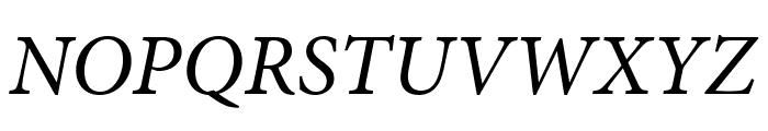 Minion Pro Cond Italic Display Font UPPERCASE