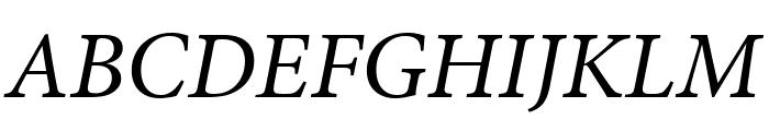Minion Pro Italic Display Font UPPERCASE