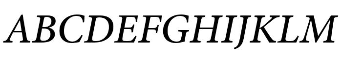Minion Pro Medium Cond Italic Caption Font UPPERCASE