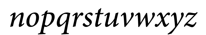 Minion Pro Medium Cond Italic Caption Font LOWERCASE