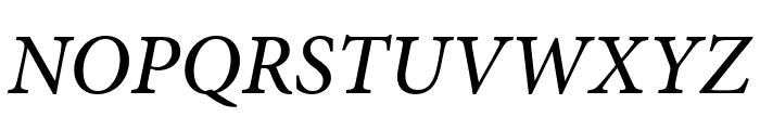 Minion Pro Medium Cond Italic Subhead Font UPPERCASE