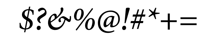 Minion Pro Medium Cond Italic Font OTHER CHARS
